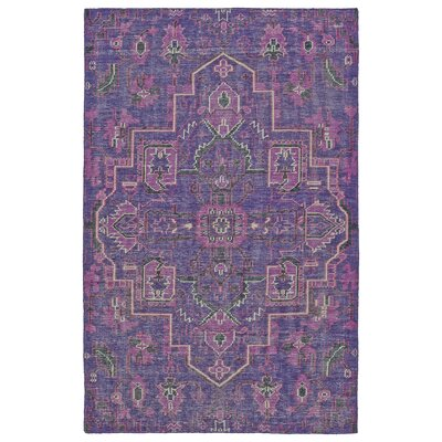 Aanya Hand-Knotted Purple Area Rug Rug Size: 56 x 86