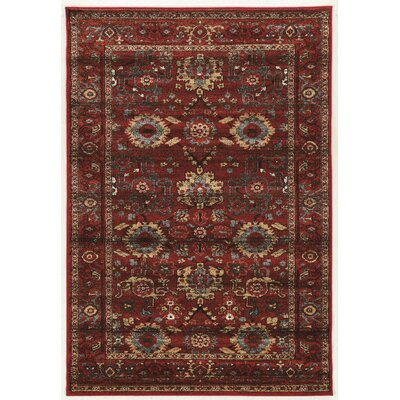 Shelie Heriz Red/Gray Area Rug Rug Size: 2 x 3