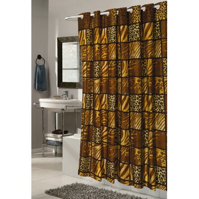 Pendik Wild Encounter Shower Curtain Size: Extra Long