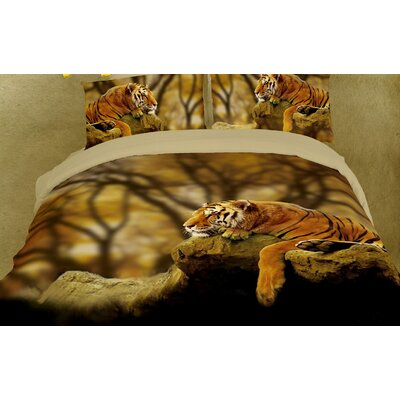 Ryan 6 Piece 	Reversible Duvet Cover Set Size: King