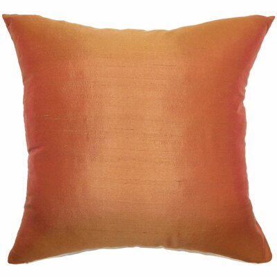 Najar Plain Silk Throw Pillow Size: 18x18