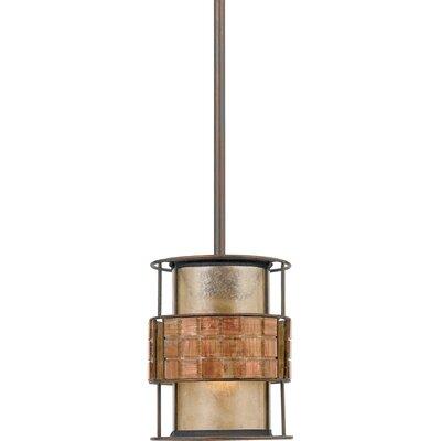 Bashir 1-Light Mini Pendant Size: 7.5 H x 6 W x 6 D