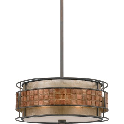 Bashir 1-Light Mini Pendant Size: 6.5 H x 16 W x 16 D