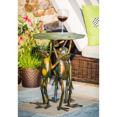 Fabron 3 Frogs Standing Side Table