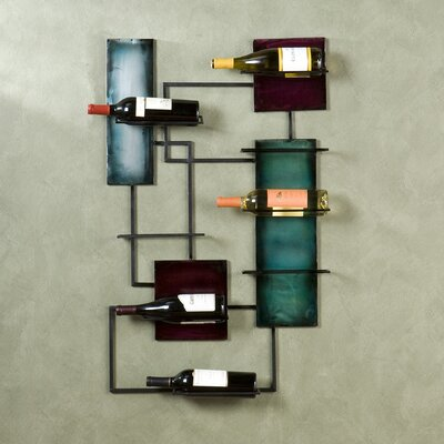 Sequeira 8 Bottle Wall Mounted Wine Rack