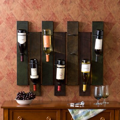 Arakaki 7 Bottle Wall Mounted Wine Rack