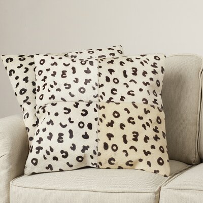 Holton Cow Hide Suede Throw Pillow Size: 22 H x 22 W x 2.5 D