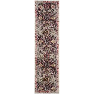 Solum Gray/Multi Area Rug Rug Size: Runner 22 x 22