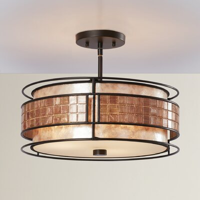 Bashir 3-Light Semi Flush Mount