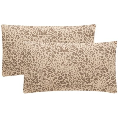 Maimouna Leopard Throw Pillow Color: Earth