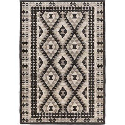 Baade Gray/Black Area Rug Rug Size: 68 x 98