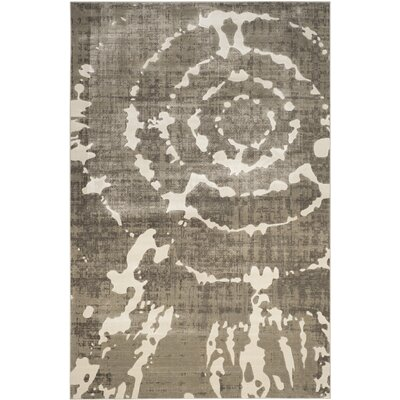 Chaima Gray/Ivory Area Rug Rug Size: Rectangle 6 x 9