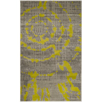 Deasia Light Gray/Green Area Rug Rug Size: 3 x 5