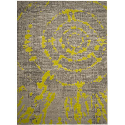 One-of-a-Kind Deasia Power Loom Light Gray/Green Area Rug Rug Size: Rectangle 82 x 11