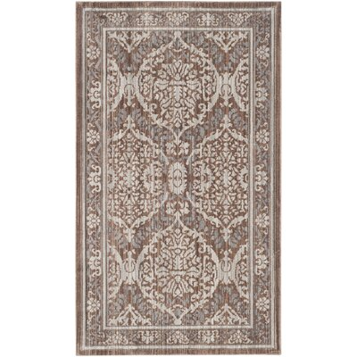 Abdoulaye Gray & Brown Area Rug Rug Size: 3 x 5