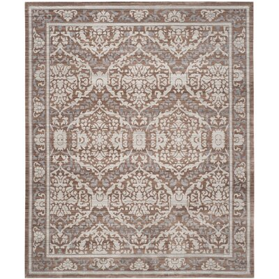 Abdoulaye Gray & Brown Area Rug Rug Size: 9 x 12
