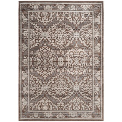 Abdoulaye Gray & Brown Area Rug Rug Size: 5 x 8