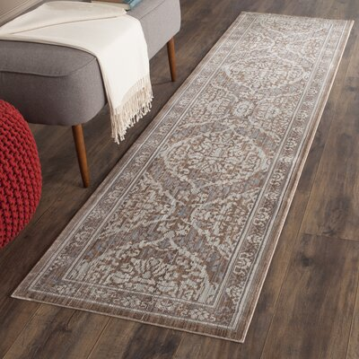 Abdoulaye Gray/Brown Area Rug Rug Size: Runner 23 x 8
