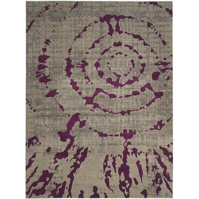 Varnai Light Gray/Purple Area Rug Rug Size: 82 x 11