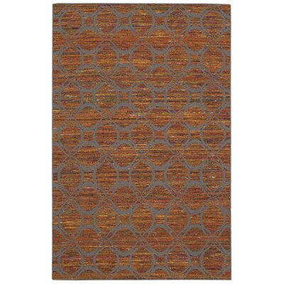 Siena Hand-Woven Rust Area Rug Rug Size: 36 x 56