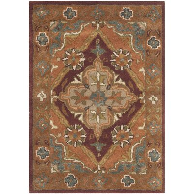 Ezell Rust Area Rug Rug Size: Rectangle 4 x 6