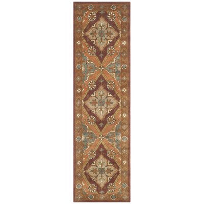 Ezell Rust Area Rug Rug Size: Runner 23 x 8
