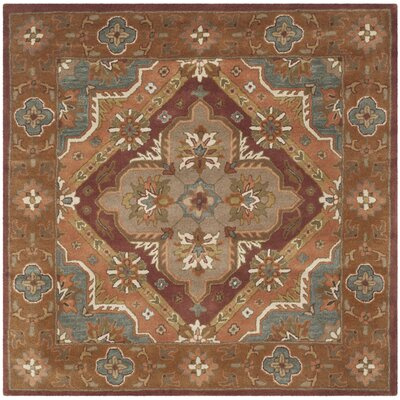 Ezell Rust Area Rug Rug Size: Square 6