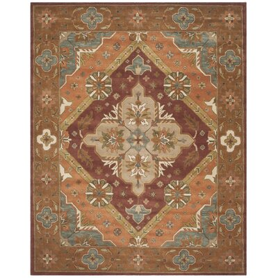Ezell Rust Area Rug Rug Size: Rectangle 8 x 10