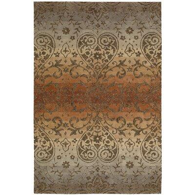 Terhune Hand-Woven Gray/Brown Area Rug Rug Size: 5 x 76