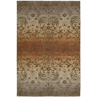Terhune Hand-Woven Gray/Brown Area Rug Rug Size: 8 x 106