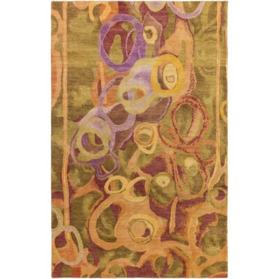 Concord Tan/Olive Area Rug Rug Size: Rectangle 4 x 6