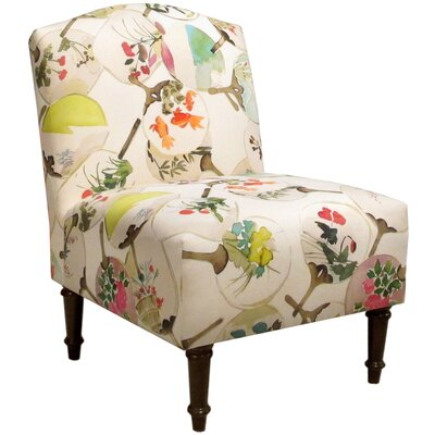 Springdale Camel Back Slipper Chair Upholstery: Mia Multi, Nailhead Detail: No Trim