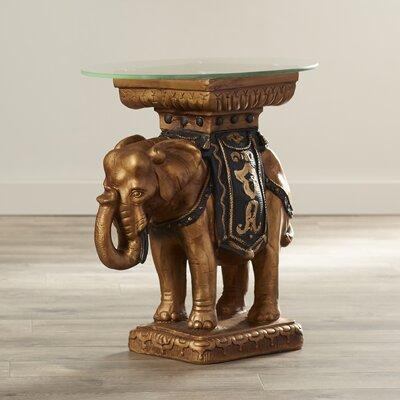 Crystal Sculptural End Table