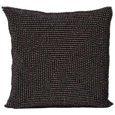 Sieben Throw Pillow Size: 24 H x 24 W x 0.5 D, Color: Black