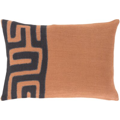 Alona Rectangular Linen Lumbar Pillow Color: Rust/Black