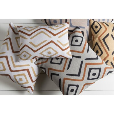 Bomaderry 100% Linen Throw Pillow Cover Size: 22 H x 22 W x 0.25 D, Color: GrayOrange