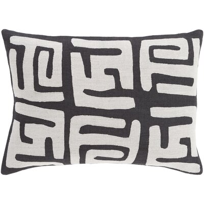 Alona Rectangular Lumbar Pillow Color: Light Gray/Black