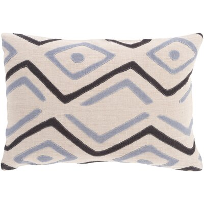 Youcef Linen Lumbar Pillow Color: Light Gray/Black/Charcoal