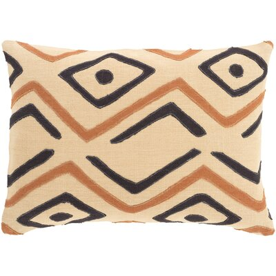 Youcef Linen Lumbar Pillow Color: Beige/Rust/Black