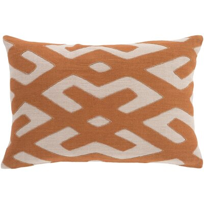 Alona Linen Lumbar Pillow Color: Rust/Beige
