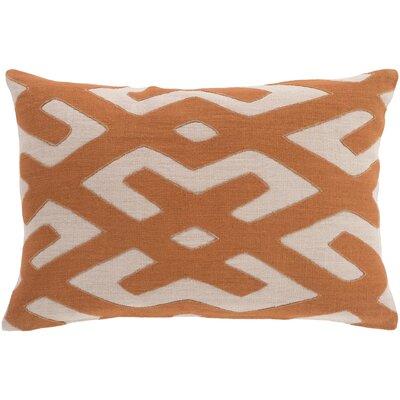 Alona Down Lumbar Pillow Color: Rust/Beige