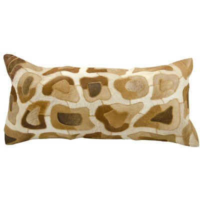 Zemrane Natural Cowhide Lumbar Pillow Color: Amber