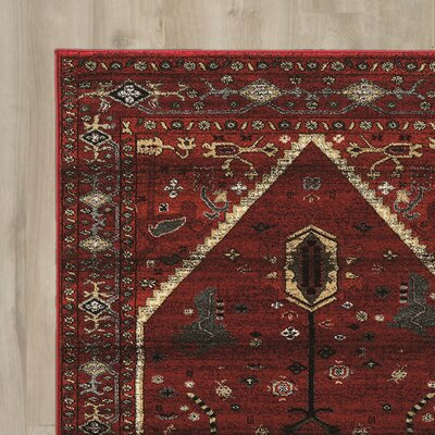 Shelie Hexagon Red/Beige Area Rug Rug Size: Rectangle 5 x 76