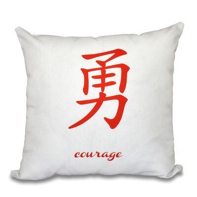 Chantilly Courage Throw Pillow Size: 16 H x 16 W, Color: Orange
