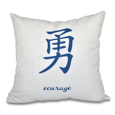 Fatma Courage Throw Pillow Size: 16 H x 16 W, Color: Blue