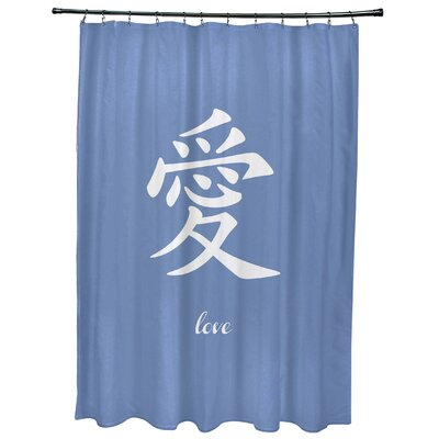 Chantilly Love Print Shower Curtain Color: Blue