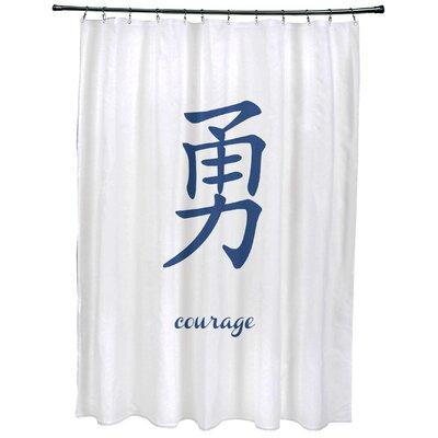 Fatma Courage Print Shower Curtain Color: Blue