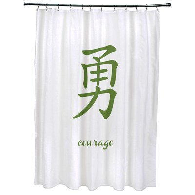 Chantilly Courage Print Shower Curtain Color: Green