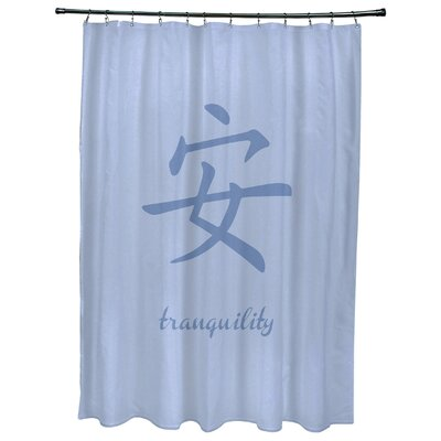 Chantilly Tranquility Print Shower Curtain Color: Blue