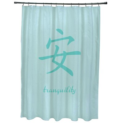 Chantilly Tranquility Print Shower Curtain Color: Aqua